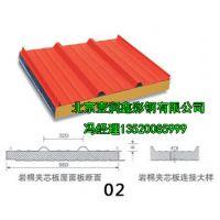 100mm厚彩钢夹芯板|北京彩钢夹芯板厂家|供应彩钢岩棉夹芯板
