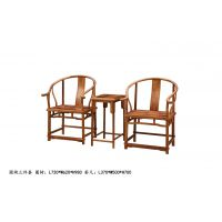山东临沂大清御品红木家具冈比亚刺猬紫檀非洲花梨圈椅3件套