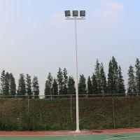 学校篮球场内外热镀锌灯杆 公园400W-led灯具配置 柏克球场灯杆安装方法