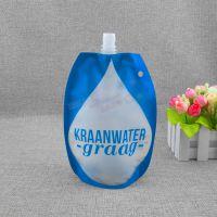 异形自立袋厂家定制 高档磨砂折叠水袋 液体塑料袋