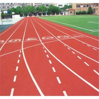 学校运动场耐冲击塑胶跑道环保材料耐磨混合型跑道材料厂家供应