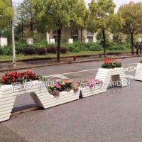隔离带绿化隔离栏组合花箱 高跟鞋创意花箱