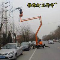 金创厂家直销 曲臂式升降机 自行走高空作业平台 GKT-15米柴油机式升降车维修监控安装路灯升降梯