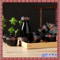 景德镇陶瓷清酒具套装釉下彩温酒器小酒壶陶瓷寿司店手彩小白酒杯
