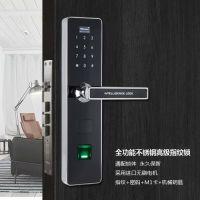 指纹锁防盗门锁 电子门锁全功能不锈钢防盗门把手智能家用大门锁