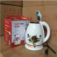 厂家直销托玛琳变色养生壶电热水壶 双层防烫 会销倒插礼品