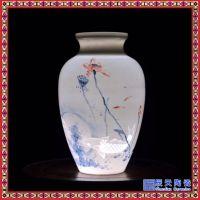 景德镇家居装饰品摆件 陶瓷新中式纯手工半刀泥薄胎花瓶