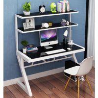简约时尚钢化玻璃电脑办公桌 家用台式简易学习桌