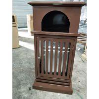 环卫立柱式垃圾桶 个性暗黑垃圾桶 钢板单桶 厂家直销