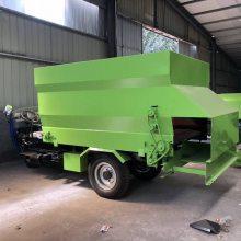 庆阳养牛自动撒料机 电动2立方撒料车尺寸 润众