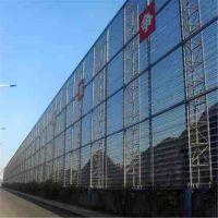防风抑尘网的材料 金属喷塑圆孔网 球场防风网