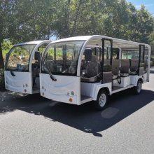 香格里拉地区豪华型11座电动观光车,敞开式可带雨帘四轮电动汽车