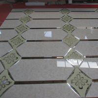 哈尔滨厂家定制电视沙发背景墙 菱形拼接玻璃拼镜影视墙