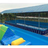 支架水池移动游泳池 儿童水上乐园标准钢架水池设施 帆布钢架结构支架水池