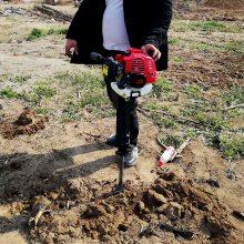 轻便挖树机 汽油冲击式断根机 江苏省果树移植起树机