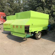 节省喂养社区电动撒料车 使用效率高机动喂料车 润华节约新型撒料车