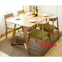 龙华实木桌椅,复古做旧餐桌椅定做