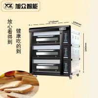 广州旭众商用电烤箱 三层九盘 不锈钢独立控温电烤炉厨房设备