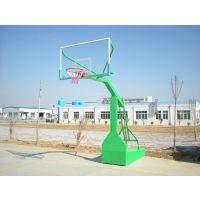 广西柳州市透明篮板篮球架 可移动箱式篮球架飞跃体育