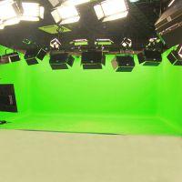 三维虚拟演播室场景 电视台新闻网络游戏直播 背景绿箱绿布