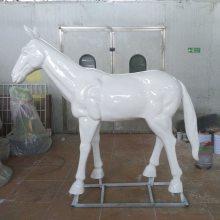 奔马玻璃钢雕塑 仿铜雕塑奔跑马 商业广场树脂玻璃钢景观雕塑仿真战马