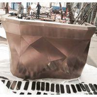 时尚形象台金属烤漆公司接待台培训结构办公桌简约收银台定制