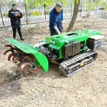 低矮大马力履带式开沟机 普航30马力的柴油开沟施肥机 旋耕锄草机报价