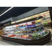 楚雄超市酸奶冷藏柜,徽点定制椭圆形环岛柜,饮料啤酒果汁展示柜保鲜