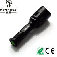 厂家批发 led充电强光手电筒 户外照明骑行用品