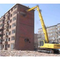 挖机加长三段式拆楼臂。