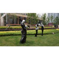 楼盘户外主题音乐人物雕塑玻璃钢雕塑造型