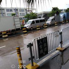 深圳街道人行道隔离栅供应 港式护栏规格 深圳机动车防护栏定做