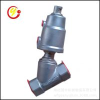 不锈钢气动角座阀 气动灌装角座阀  DN25-50双作用蒸汽角座阀