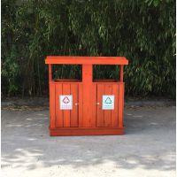 青岛垃圾桶批发 木制果皮箱 定制HS-MZ-03