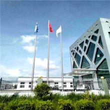 耀恒 锥形不锈钢旗杆厂家 内置手摇旗杆 9米10米11米