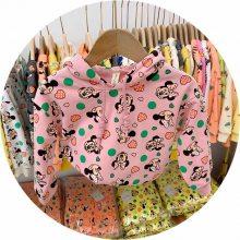 2017外贸童装 韩版时尚儿童T恤 童外贸长袖卡通纯棉小猪佩奇T恤打底衫