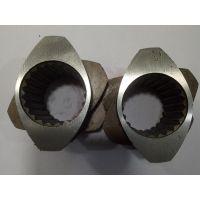 6542料双螺杆螺纹套37机,58机,40机双螺杆捏合块,挤出机螺杆捏合块,挤出机螺纹元件