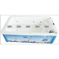 重庆婴儿游泳池三面透明亚克力裙边大池