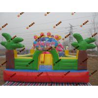 幼儿小型跳跳蹦床定做 奶粉店专用小城堡蹦床 室外孩子玩的城堡小滑梯