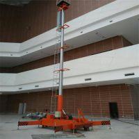 生产销售套缸14米直立升降机 电动液压升降平台 移动高空作业梯