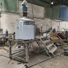 定制不锈钢加热反应釜 富溢达液体搅拌罐 高速搅拌分散机
