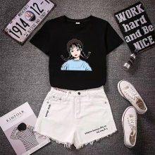 杂款女装韩版宽松大码女装短袖蝙蝠衫地摊尾货女生上衣短袖批发T恤