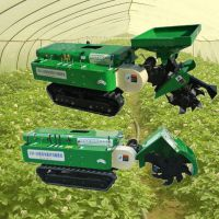 履带式自动填土开沟机 林业多用途挖沟机 启航一机多用旋耕除草机