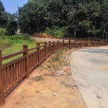 枣庄批量生产便宜水泥仿木护栏 仿木花架 仿木花箱 花架 花桶