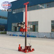 汽油机动力回转式钻机山东鲁探QZ-3小型地质勘探取样钻探机