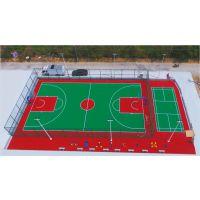 广西河池市室外塑胶篮球场 罗城硅PU球场包工包料 康奇体育