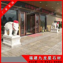 新款现货石雕大象 园林石雕大象摆件 花岗岩石象