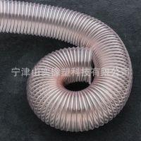 山实pu镀铜钢丝排气管 伸缩排气管 聚氨酯通风管