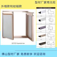 佛山南北旺厂家 晶刚门铝材 外框款 铝合金铝柜门 免费教学