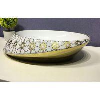 卫浴洁具个性创意一体成型无孔台面欧式台上盆